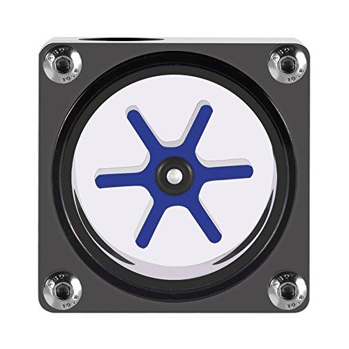 Medidor de flujo de agua, 3 maneras sensor del flujo del agua indicador de medidor de flujo para sistema de enfriamiento de agua de PC, 6 Impulsor, Hilo G1 / 4