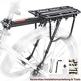 eLim Fahrrad Gepäckträger Hinten, MTB Aluminium Hinten Gepäckträger Mountainbike