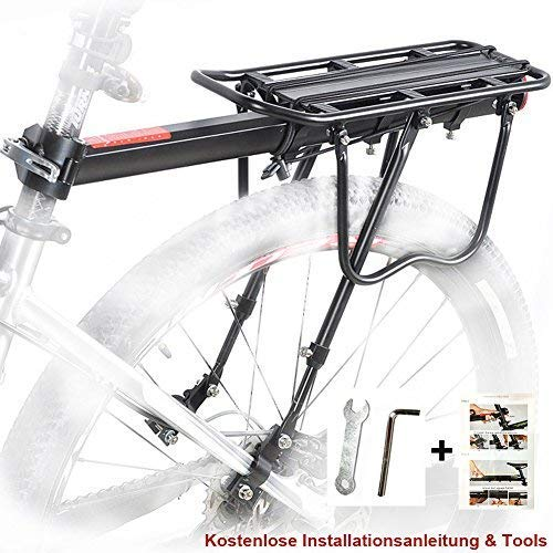 110lb Bike Quick Release Pannier Rear Rack Carrier Seatpost Road MTB Bicycle
