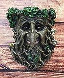 Ebros Nature Spirit God Big Nose Leafman Gargoyle Celtic Greenman Hanging Wall Decor Plaque 9' High Wiccan Tree Of Life Forest Shepherd Horned God Cernunnos Ent Mythical Fantasy Decorative Sculpture