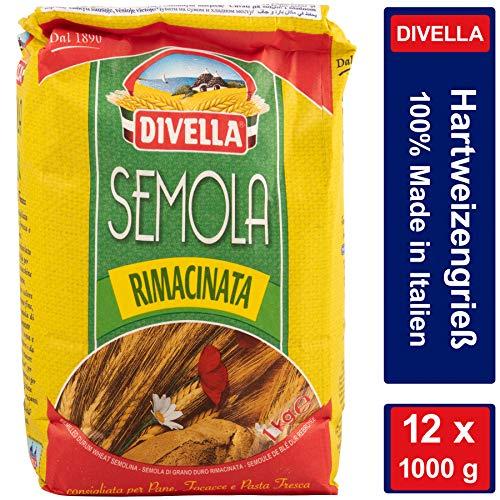 Hartweizengrieß - Semola di Grano Duro Rimacinata - 12 x 1000 g Vorratspacket 12 kg