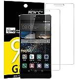 NEW'C Lot de 2, Verre Trempé pour Huawei P8, Film Protection écran - Anti Rayures -...