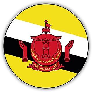 valstick Brunei Round Flag Car Bumper Sticker Decal