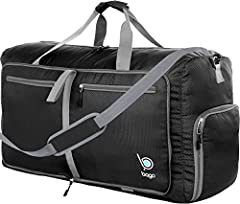 """MEDIUM TRAVEL DUFFLE Bag: 10x13x23 inch with 60 L capacity and lightweight at 1.3 lbs, it serves as carryon luggage and holds souvenirs on trips. An extra """"Just in Case"""" or travel bag, gymbag, school bag, athletic sports bag, overnight bag or for cam..."""