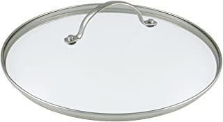 GreenPan CW0002557 - Tapa de Vidrio Templado con Bordes de Acero Inoxidable y asa de Metal (30cm)