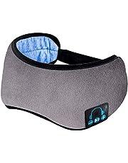 Sova hörlurar Bluetooth trådlöst sovande pannband, Bluetooth-pannband för män kvinnor, förbättra sömnkvaliteten, mjuk, komfort med justerbar rem för sömn, resor, tvättbar, yogameditation Grå
