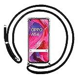 Funda Colgante Transparente para OPPO A54 5G / A74 5G con Cordon Negro