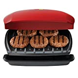 George Foreman Grill, Classic Plate Grill and Panini Press, 5 Servings, Red, GR2080RC