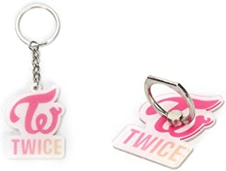 Kpop Twice Keychain Keyring+Phone Stand Holder for Cell Phones and Small Screen Tablets (Twice)