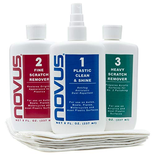 Novus 123 Plastic Polish Kit 8oz. with Extra Polish Mate