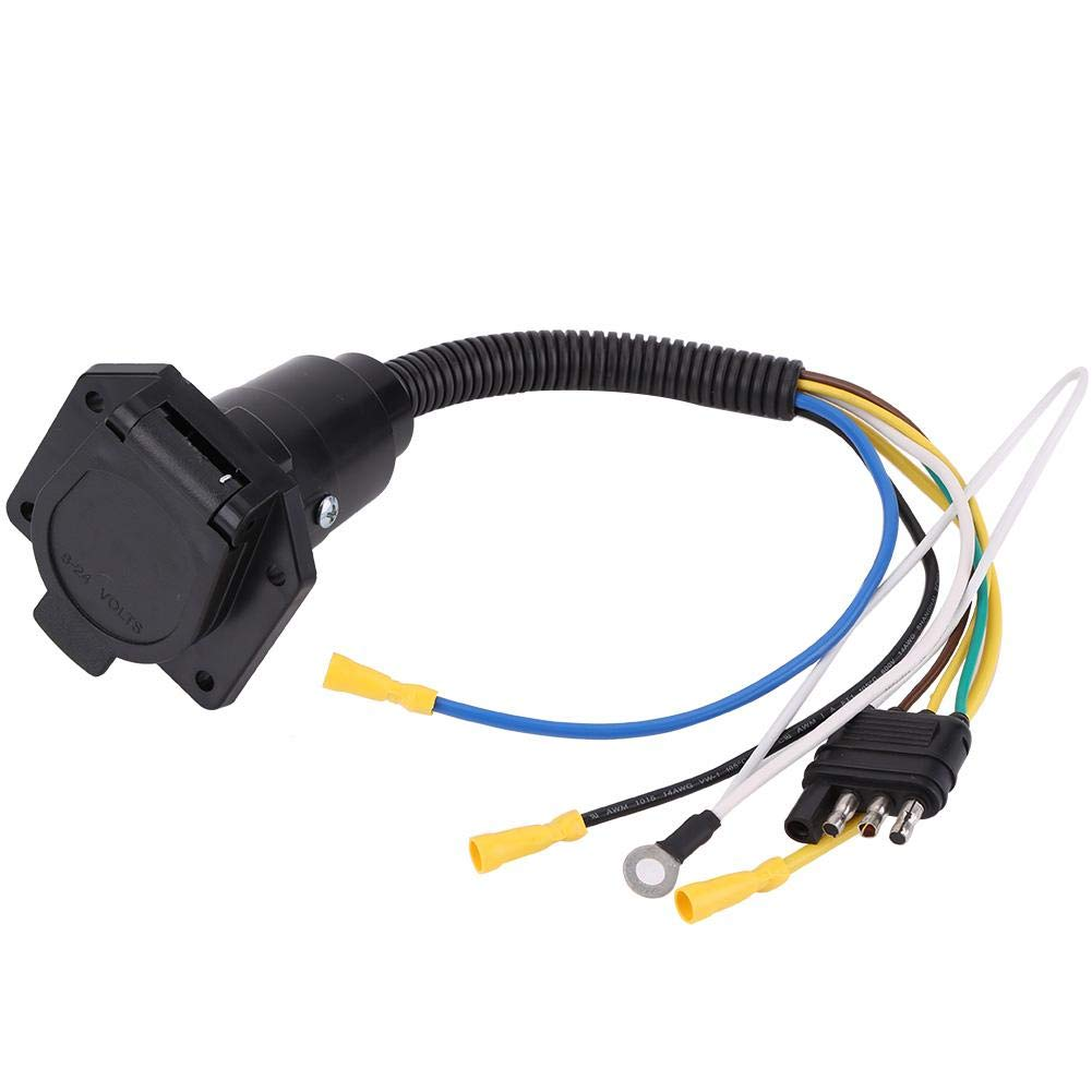 KIMISS 400 400V 40 Way Flat to 40 Way Round Trailer Wiring Harness Adapter  Socket Plug Converter Wire Connector for Caravan Towbar