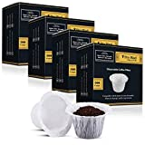 Disposable Coffee Filters 4 Pack 1440 Counts Coffee Filter Paper for Keurig Brewers Single Serve 1.0 and 2.0 Use with All Brands Reusable K Cup Filter