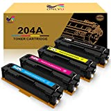 ONLYU Compatible Toner Cartridge Replacement for HP 204 204A CF510A CF511A CF512A CF513A Pro MFP M180n M180nw M181 M181fw M154a M154nw Printer (Black, Cyan, Yellow, Magenta-4 Pack)