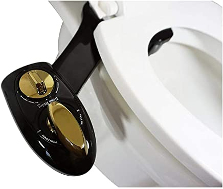 Boss Bidet BOLD Toilet Attachment | Cleans Your Tushy | Warranty - Lifetime | 30 Day Guarantee | Dual Nozzle | Self Cleaning Sprayer Feature | Attaches in 15 Minutes | Black & Gold