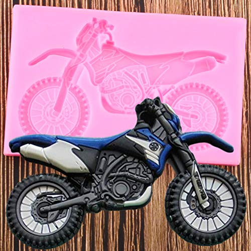 LNOFG 3D Motorcycle Silicone Mold Chocolate Candy Fudge Mold DIY Baby Birthday Cake Decoration Tool Resin Clay Mold