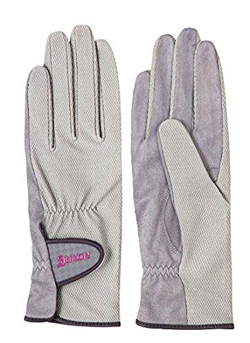 DUNLOP(ダンロップ)SRIXON(スリクソン) レディース・ウィメンズ テニス グローブ 両手セット×2個セット Mサイズ グレー SGG0700-020-M-2SET