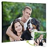 Coverpersonalizzate.it - Lienzo Personalizado con Foto, Impresión en Lienzo Espesor 2cm - Muchos Tamaños Disponibles de Cuadros Personalizados