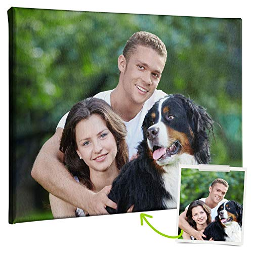 Coverpersonalizzate.it - Quadro con Foto Personalizzata, Stampa su Tela Spessore 2cm - Tante Misure di Quadri Personalizzati Disponibili