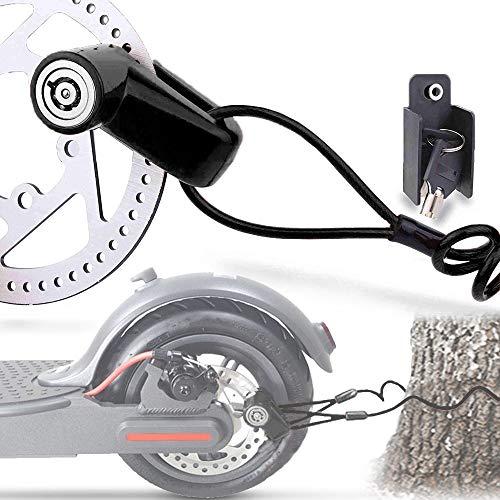 TUSNAKE Scooter Electrico Cerradura del Freno de Disco de Seguridad para Ptinete Electrico Bicis Carretilla Puertas Accesorios (Negro)