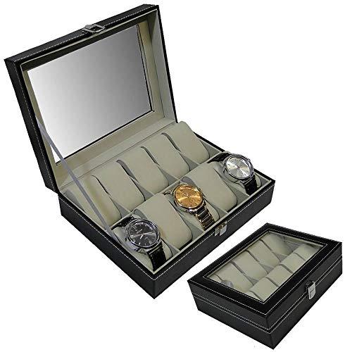 Porta Relógios Caixa Estojo Para 10 Relógios Luxo CBRN02283