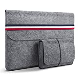 HOMIEE MacBook 13 Sleeve 13.3 Inch Felt Laptop Sleeve for 2016-2019 MacBook Pro, 2017-2019 MacBook Air, 12.9' iPad Pro, Dell XPS 13, Lenovo Yoga 13, Surface Pro & Other Ultra Slim Notebook, Light Gray