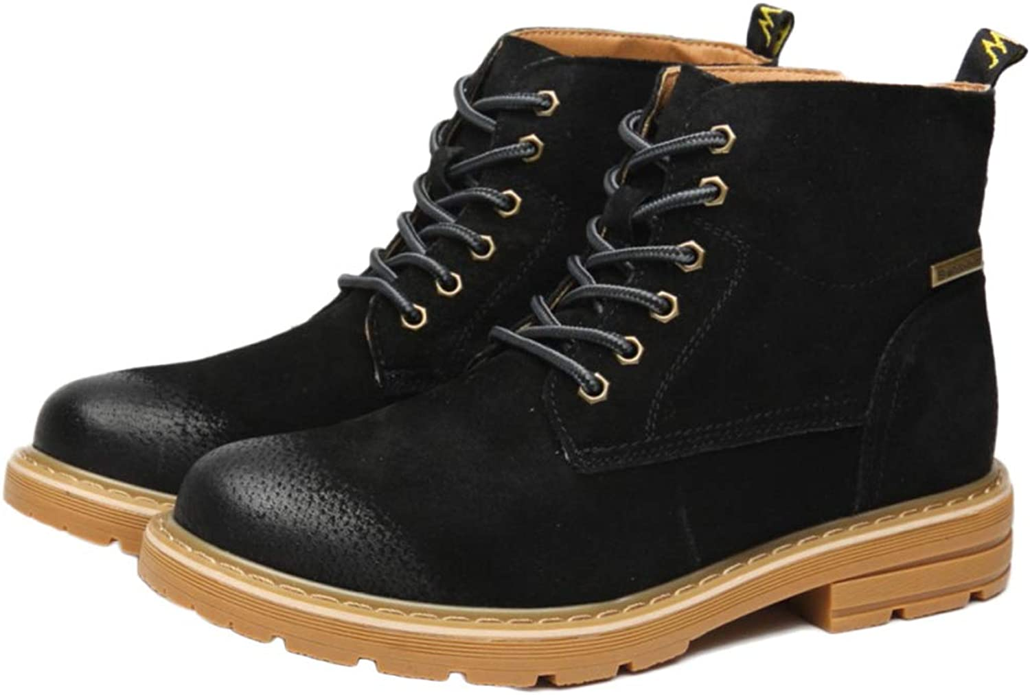 Snfgoij Desert Boots Suede Lace Up Retro Autumn Fashion Martin Boots Tooling Boots Retro High Help Men's Boots