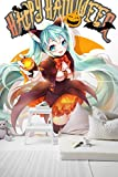 3D Hatsune Miku Halloween 5 Japan Anime Fond d'écran Mur Peintures Murales Amovible Peinture Murale...