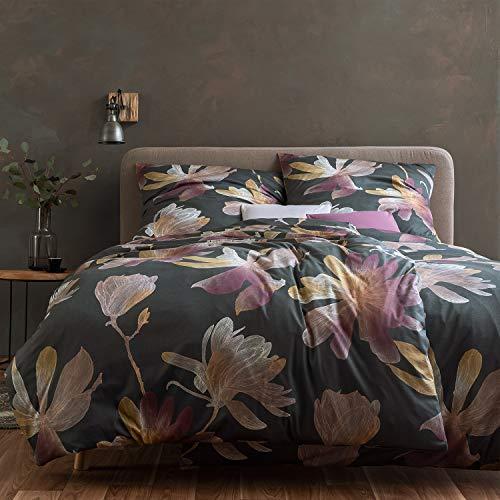 ESTELLA Mako Interlock Jersey Bettwäsche Kimi Graphit 1 Bettbezug 135x200 cm + 1 Kissenbezug 80x80 cm