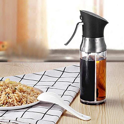 Olie fles 200ml 2 in 1 Olive Oil Dispenser Fles Pot Container van de olie-opslag Fles Azijn Spuitbus Spice Oliebusje Sauce Keuken Koken Gereedschap lili