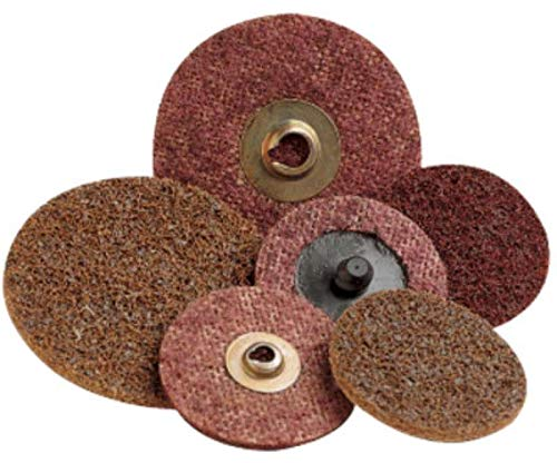 Surface Conditioning Disc 3M SC-DH Scotch-Brite Aluminum Oxide Hook and Loop Attachment TM Pack of 50 NH A Coarse 5 Diameter