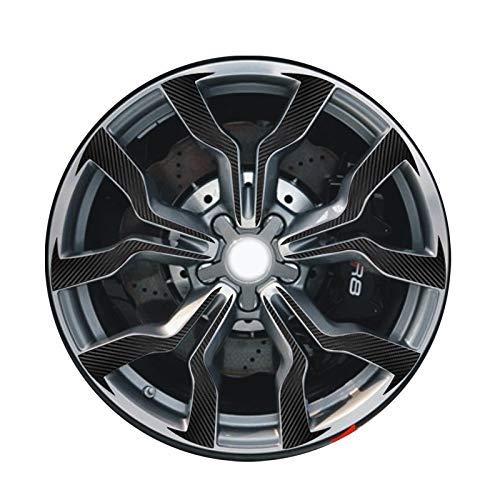 ZQTG 3D 4D Carbon/Matte/Gloss Black 18'Pegatinas de Rueda para VW Audi R8 19' Calcomanía de Vinilo Calcomanía para Auto (Nombre del Color: Sólido geométrico, Tamaño: 19 Pulgadas)