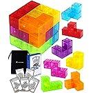 Forest of joy マグネットブロック 立体パズル 磁石ブロック 組立問題カード 収納袋付き