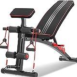HHTD Banco de pesas ajustable para gimnasio en casa, banco de ejercicios ajustable para sentarse, inclinación, abdominales, pesas y ejercicios