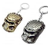 Chamber37 - AVP Predator Máscara llavero (juego de 2) Alien v's Predator - Plata + Bronce
