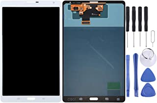 ZHM Cell Phones Repair Replacement Part for Samsung LCD Screen and Digitizer Full Assembly for Galaxy Tab S 8.4 LTE / T705(Black) Spare Parts (Color : White)