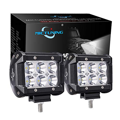 MICTUNING Led Light Bar, 2PCS 4Inch 18W Spot Cree Led Pods...