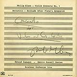 Glass: Violin Concerto No.1; Bernstein: Serenade
