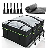 AURELIO TECH 19 Cubic Feet Waterproof Rooftop Cargo Carrier Bag, 600d PVC Material Car Roof Bag, Fits All Cars with/Without Rack, 6 Door Hooks Included