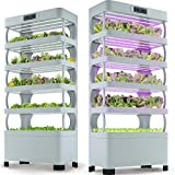 Hydroponic System – Innovative Indoor Planter for Herbs, Vegetables, Fruits – Smart Timing and Light Hydroponic Growing System– Eco-Friendly and Efficient Indoor Garden Kit – 72 Planters
