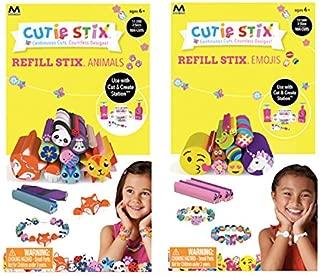 Cutie Stix Cut and Create Station Refill Packs - Animals & Emojis Sets