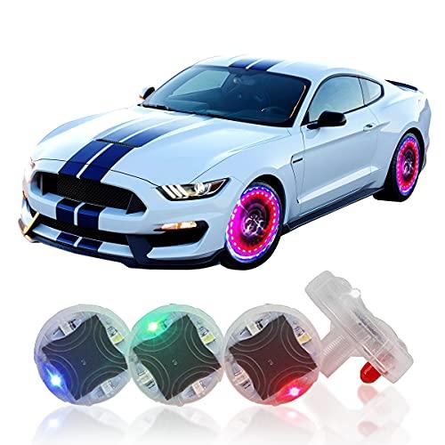 Hhobake Car Tire Wheel Lights, Car Wheel Tire Lights, 4pcs Solar Car Wheel Tire Air Valve Cap Lights...