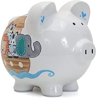Child to Cherish Ceramic Piggy Bank for Boys, Noah's Ark