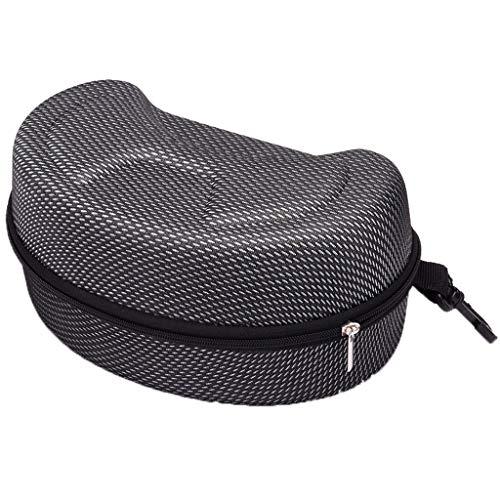 FBGood Brillenetui groß und hart für Sport, Box für Skibrille, Snowboard, Sport-Halterung – Tasche für Motorradbrille, Schutzhülle für Sonnenbrille Schwarz