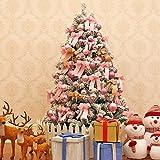 erddcbb Árbol de Navidad Artificial Cubierto de Nieve Árbol de Navidad con bisagras Premium Árbol de Pino Preiluminado Pre-Decorado Realista Pino Canadiense Efecto de Nieve para decoración navideña-