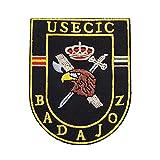USECIC BADAJOZ Bandera España Military Parches bordados Accesorios Insignia Apliques
