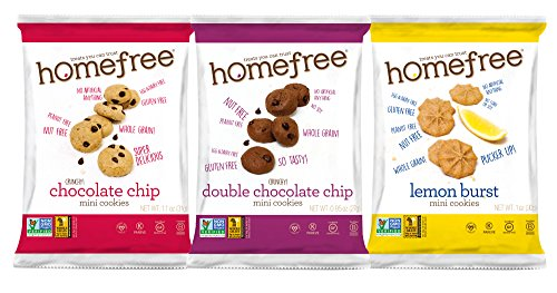 Homefree Treats You Can Trust Gluten Free Mini's, Variety pack with Lemon, 30 Count