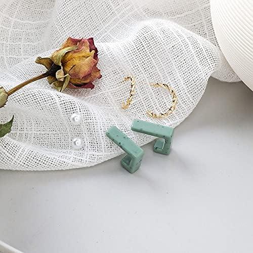 6 pcs/Set Hoop Earrings Simple Geometric Round Circle Fashion Ear Jewelry orecchini for Women Girls pendientes aretes de mujer