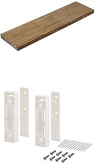 平安伸銅工業 DIY収納パーツ ナゲシレール ブラケット KXO-210 ホワイト 木材セット 幅40 奥行10cm 棚板BRIWAX