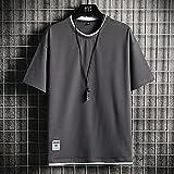 UKKO Camiseta Hombre Hombres De Verano Camiseta Casual Hombre Suelto Color Sólido Tshirts Mens Sportswear O-Cuello De Manga Corta Street Tops Tees Ropa