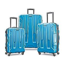 commercial Samsonite Centric Hard Side Expandable Case, Swivel Wheels, Caribbean Blue, 3 Piece Set … hard luggage brands